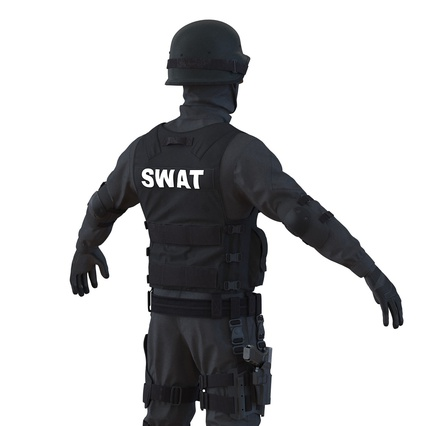 SWAT Man Mediterranean Rigged for Maya. Render 22
