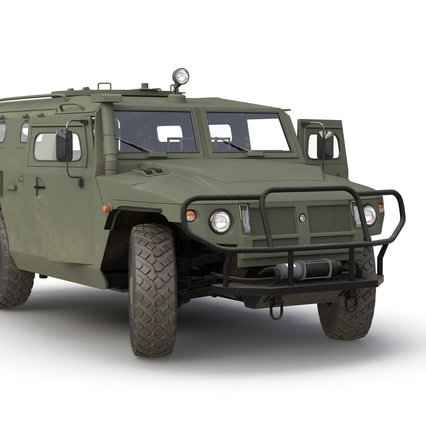 Russian Mobility Vehicle GAZ Tigr M Rigged. Render 28