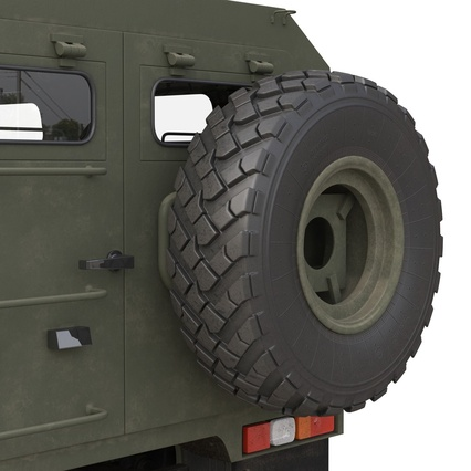 Russian Mobility Vehicle GAZ Tigr M Rigged. Render 45