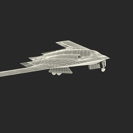 Stealth Bomber B-2 Spirit Rigged. Render 6