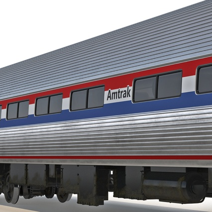 Railroad Amtrak Passenger Car 2. Render 37