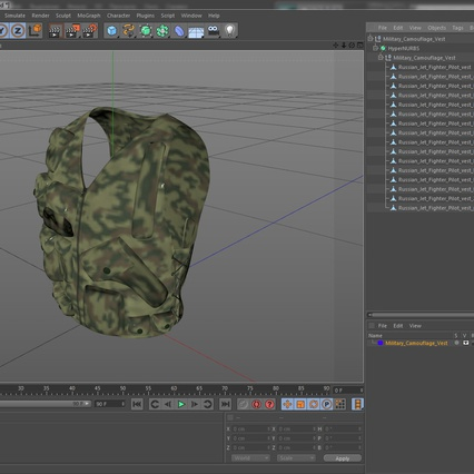 Military Camouflage Vest. Render 15