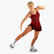Female Figure Skater Dancing