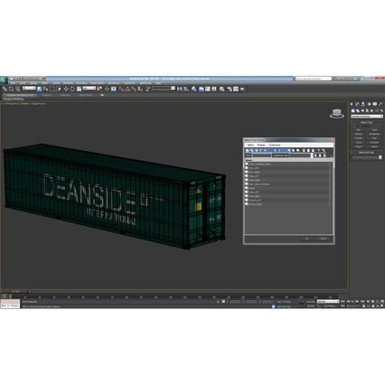 40 ft High Cube Container Green. Render 39