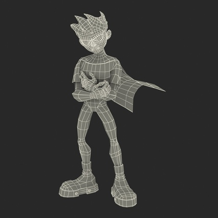 Robin Cartoon Character Rigged for Maya. Render 36