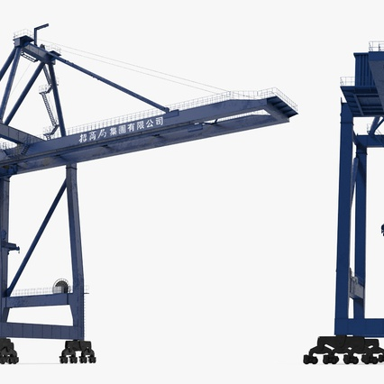 Container Crane Blue. Render 9