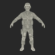 SWAT Man Mediterranean Rigged for Cinema 4D. Preview 3