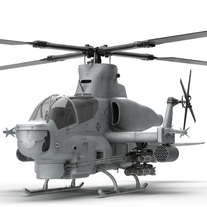 Attack Helicopter Bell AH 1Z Viper Rigged. Render 37
