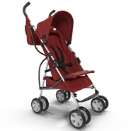 Baby Stroller Red. Preview 2