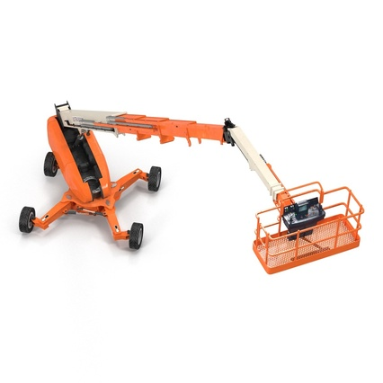 Telescopic Boom Lift Generic 4 Pose 2. Render 15