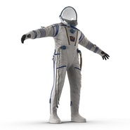 Russian Space Suit Sokol KV2 Rigged. Preview 22