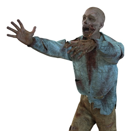 Zombie Rigged for Cinema 4D. Render 40