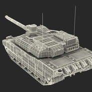 French Army Tank AMX-56 Leclerc Rigged. Preview 29