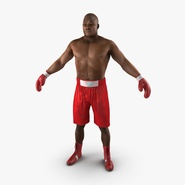 African American Boxer Red Suit 2