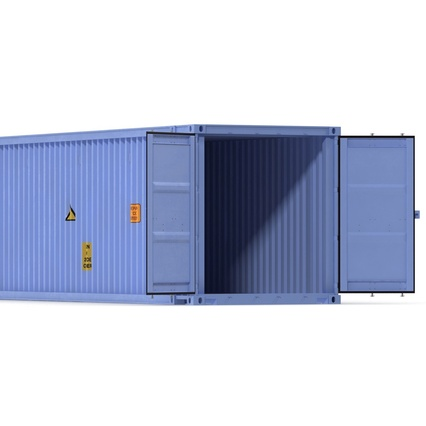 45 ft High Cube Container Blue. Render 26