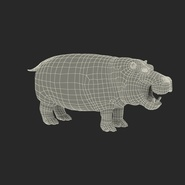 Hippopotamus Rigged for Cinema 4D. Preview 3