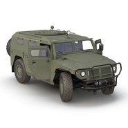 Russian Mobility Vehicle GAZ Tigr M Rigged. Preview 8