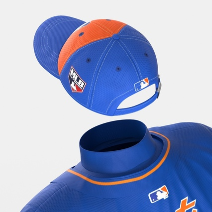 Baseball Player Outfit Mets 2. Render 30