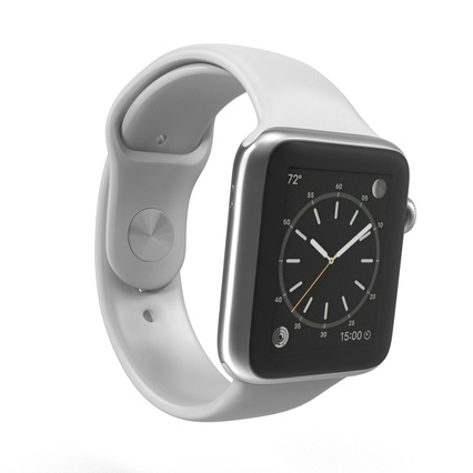 Apple Watch Sport Band White Fluoroelastomer 2. Render 5