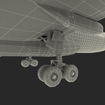 Jet Airliner Airbus A330-300 Emirates Rigged. Render 67