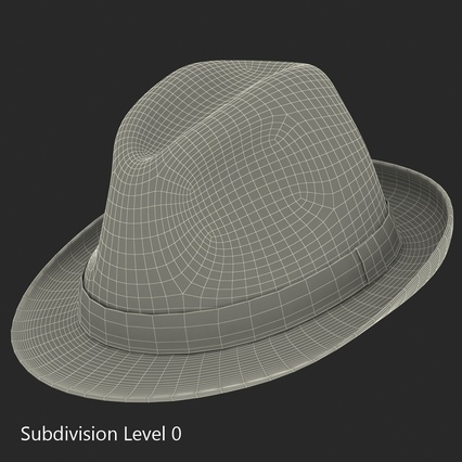Fedora Hat Blue. Render 20