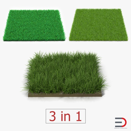 Grass Fields Collection 2. Render 1