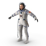 Russian Astronaut Wearing Space Suit Sokol KV2 Rigged for Maya. Preview 17