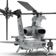 Attack Helicopter Bell AH 1Z Viper Rigged. Preview 41