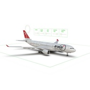Jet Airliner Airbus A330-200 Northwest Airlines Rigged. Preview 52