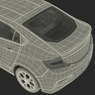 Generic Hybrid Car Rigged. Preview 93