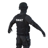 SWAT Man Mediterranean Rigged for Cinema 4D. Preview 22