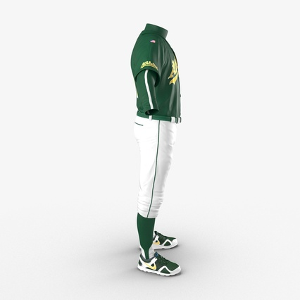 Baseball Player Outfit Athletics 3. Render 8