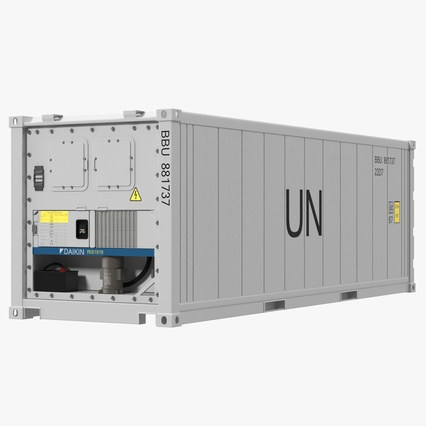ISO Refrigerated Container. Render 1