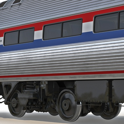 Railroad Amtrak Passenger Car 2. Render 38