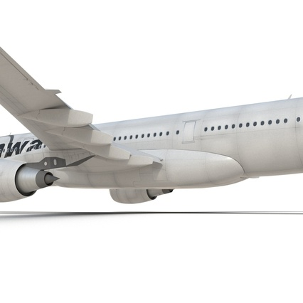 Jet Airliner Airbus A330-200 Northwest Airlines Rigged. Render 39