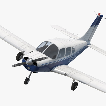 Piper PA-28-161 Cherokee Rigged. Render 1