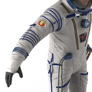 Russian Astronaut Wearing Space Suit Sokol KV2 Rigged for Maya. Preview 41