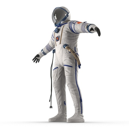 Russian Space Suit Sokol KV2 Rigged. Render 24