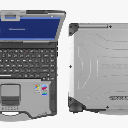Panasonic Toughbook. Render 7