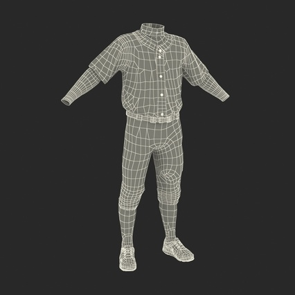 Baseball Player Outfit Athletics 3. Render 35