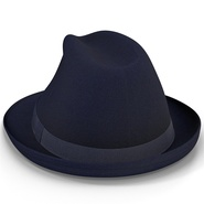 Fedora Hat Blue. Preview 14