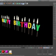 Happy Birthday Candles with Flame. Preview 19
