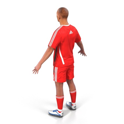 Soccer Player Rigged for Maya. Render 10
