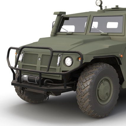 Russian Mobility Vehicle GAZ Tigr M Rigged. Render 36