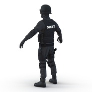 SWAT Man Mediterranean Rigged for Cinema 4D. Preview 15