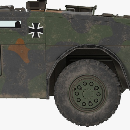 Fennek German Reconnaissance Vehicle Rigged. Render 24