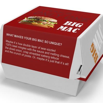 burger box big mac 3d model. Black Bedroom Furniture Sets. Home Design Ideas