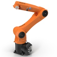 Kuka Robot KR 10 R1100 Rigged. Preview 2