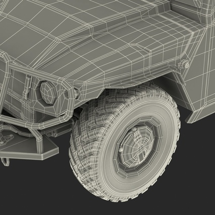 Russian Mobility Vehicle GAZ Tigr M Rigged. Render 89
