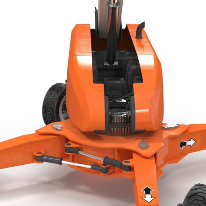 Telescopic Boom Lift Generic 4 Pose 2. Render 39